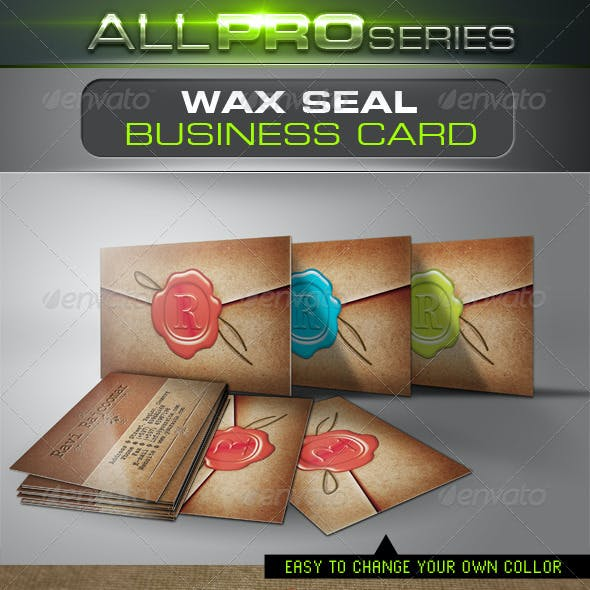 Wax Seal Business Card