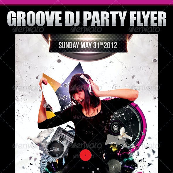 Groove Dj Party Flyer