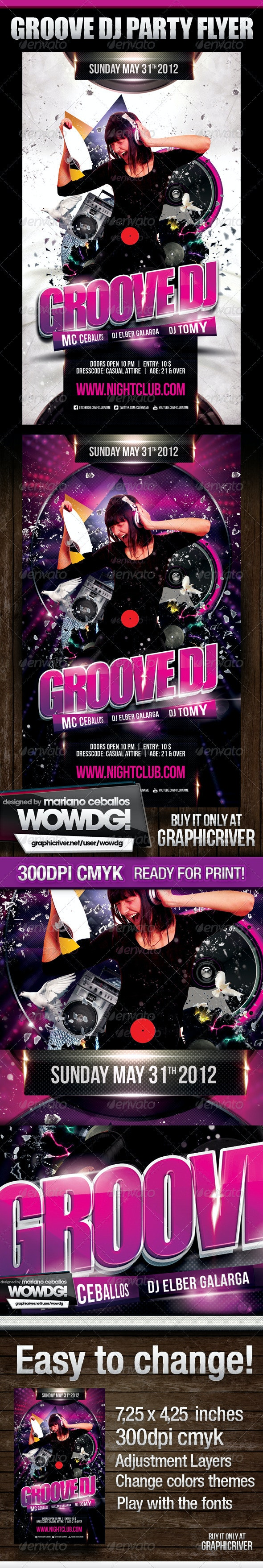 Groove Dj Party Flyer - Clubs & Parties Events