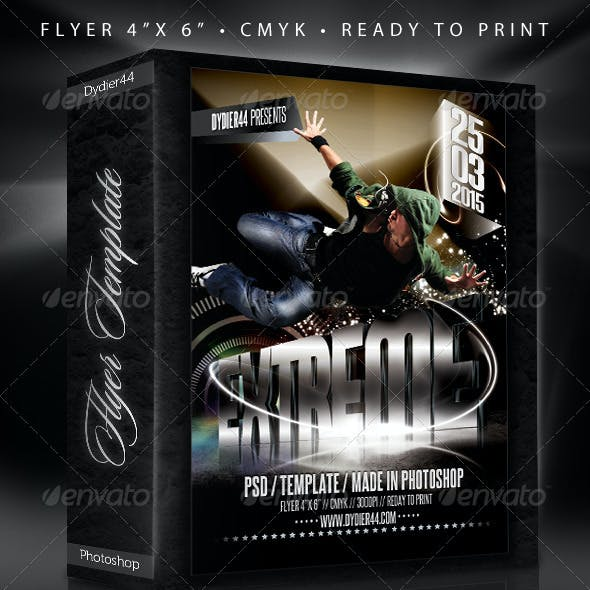 "Extreme 3D  (Flyer Template 4x6"")"
