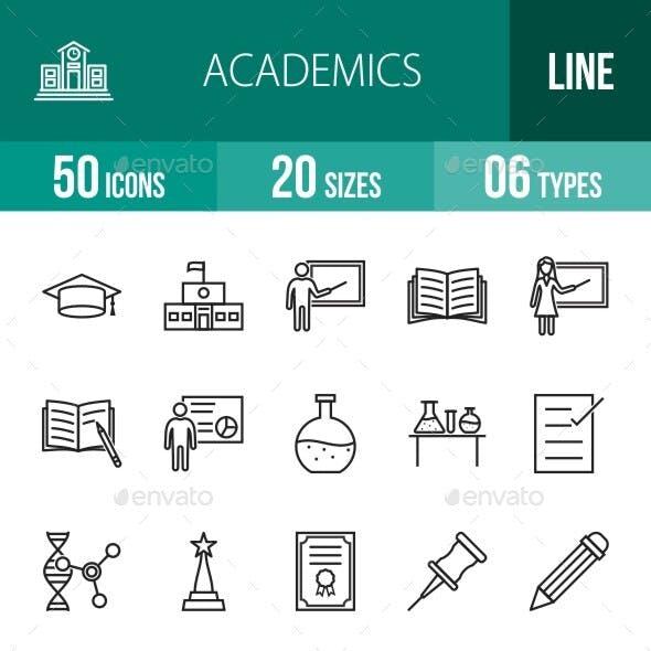 Academics Line Icons Season II