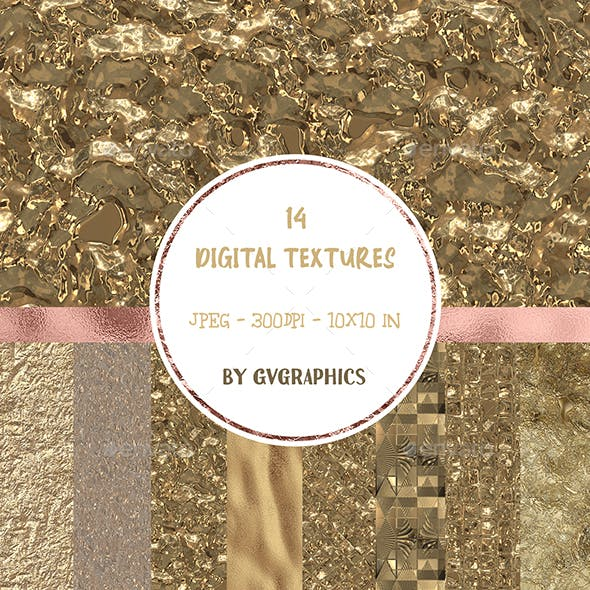 Gold Textures Digital Papers
