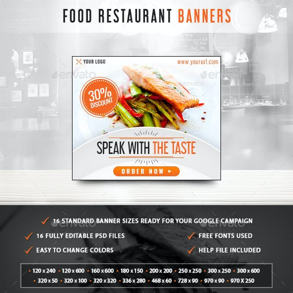 Food Restaurant Banners