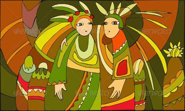 Ethnic People - People Characters