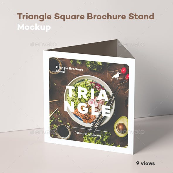 Triangle Square Brochure Stand Mock-up