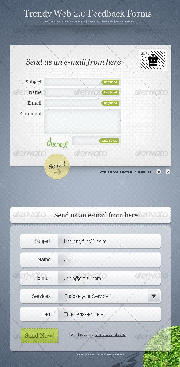 Trendy Web2.0 Feedback Forms - Web Elements