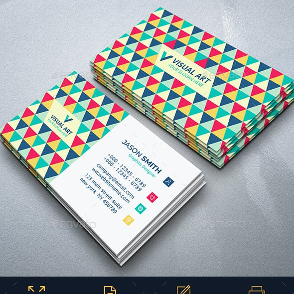 Elegant Colorful Business Card