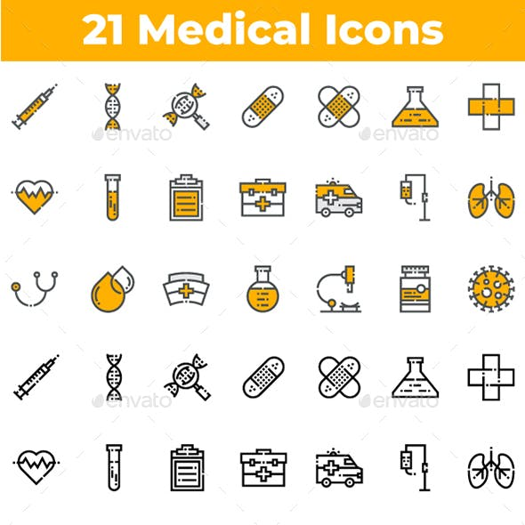 21 Medical and Health Icons