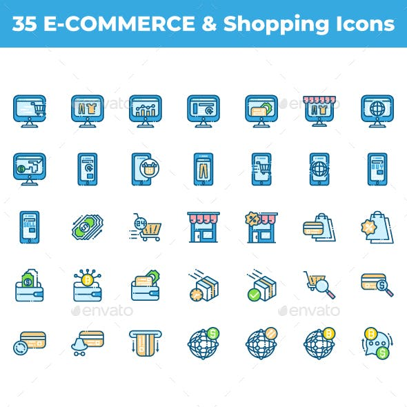 35 E-commerce and Shopping Icons