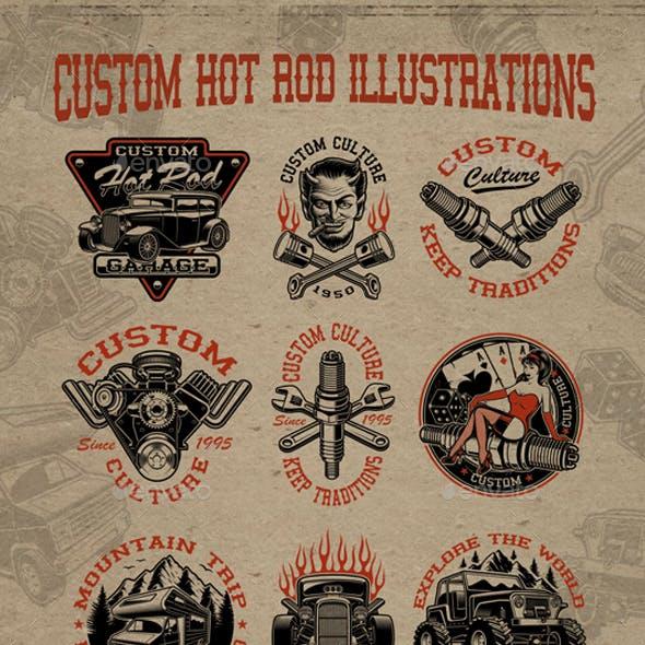 Vector Hot Rod Illustrations