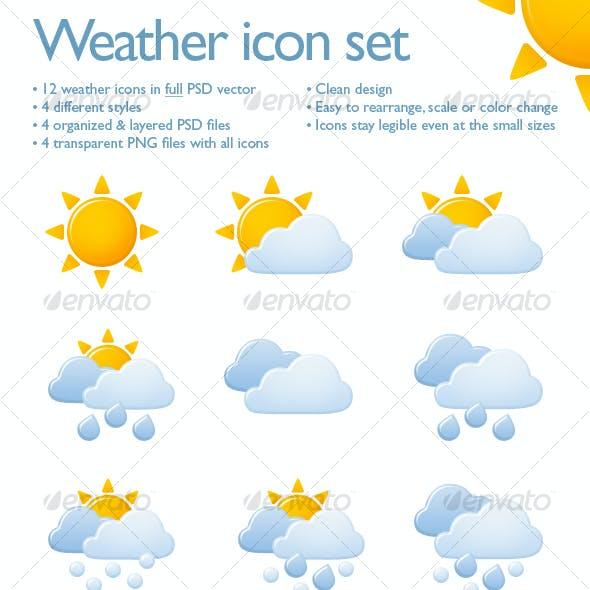Weather icon set (12 icons)
