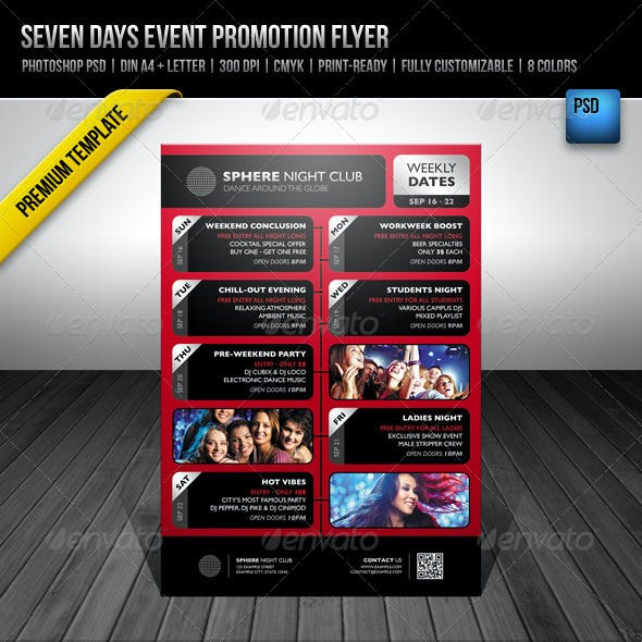Seven Days Event Promotion Flyer