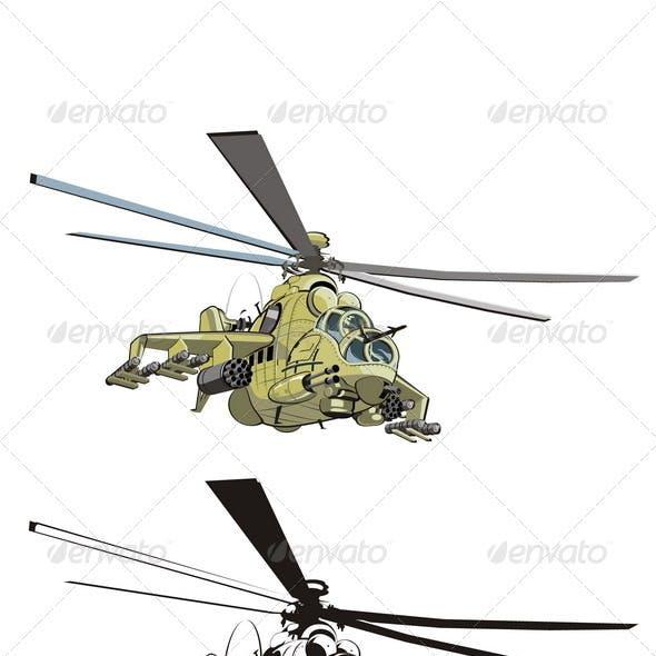 Cartoon Strike Helicopter
