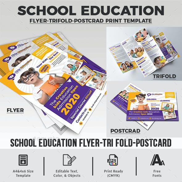 School Education Print Template Bundle