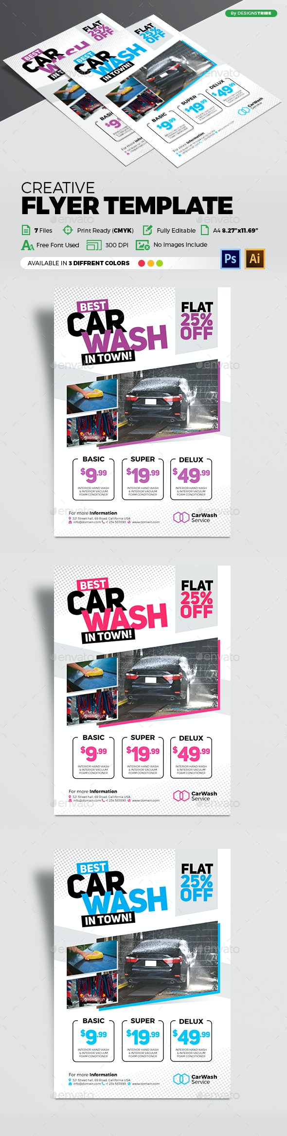 Car Wash Flyer Template - Commerce Flyers