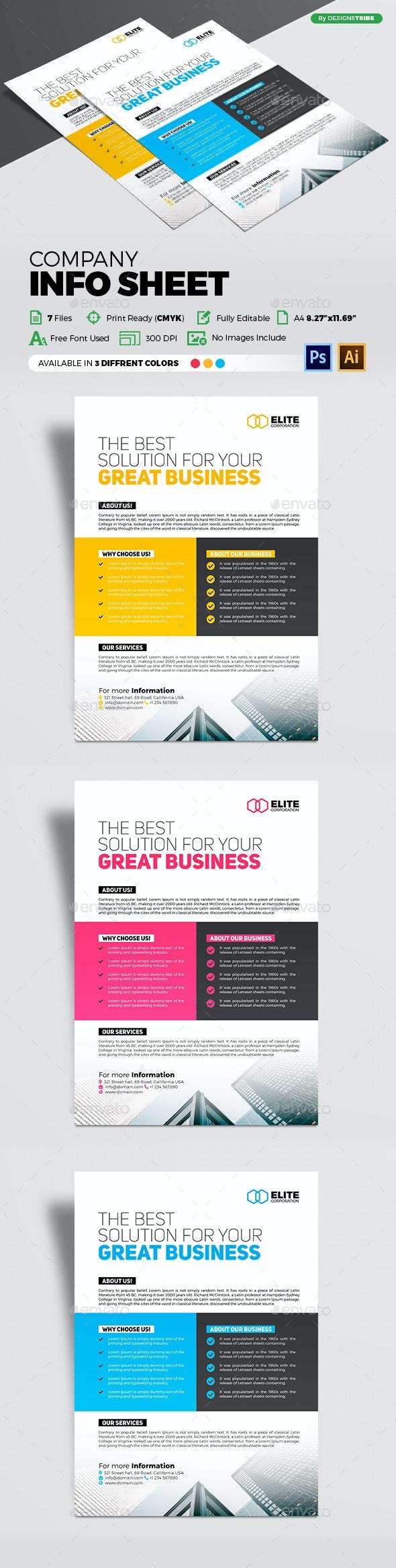 Company Info Sheet - Corporate Flyers