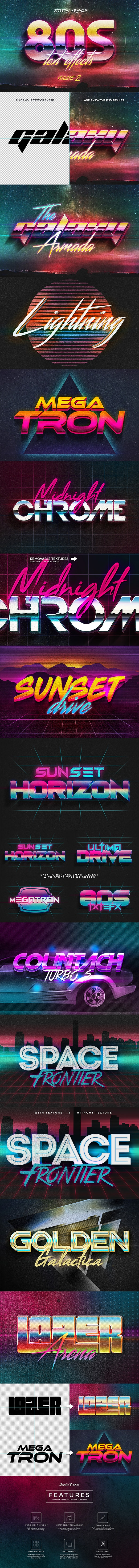 80s Text Effects Vol.2 - Text Effects Actions