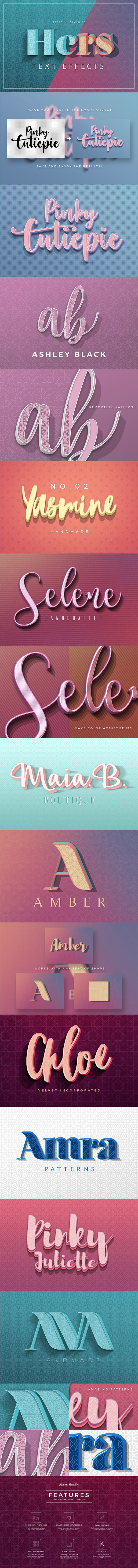 Colorful 3D Text Effects - Text Effects Actions