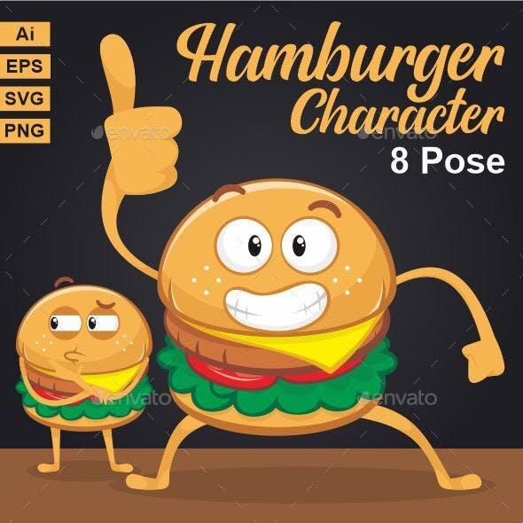 Hamburger Character