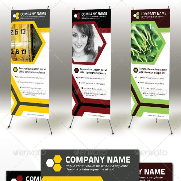 Honeycomb Roll-up Banner