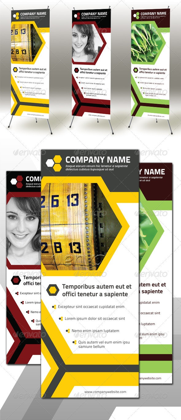 Honeycomb Roll-up Banner - Signage Print Templates