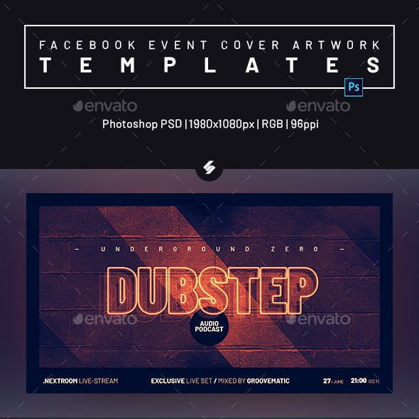 Electronic Music Party 27 – Facebook Event Cover Templates