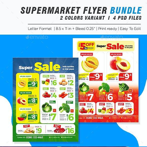 Supermarket Promotion Flyer Bundle