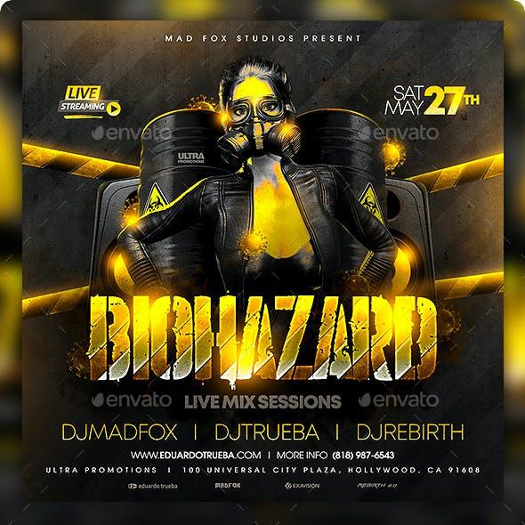 Biohazard Party Flyer