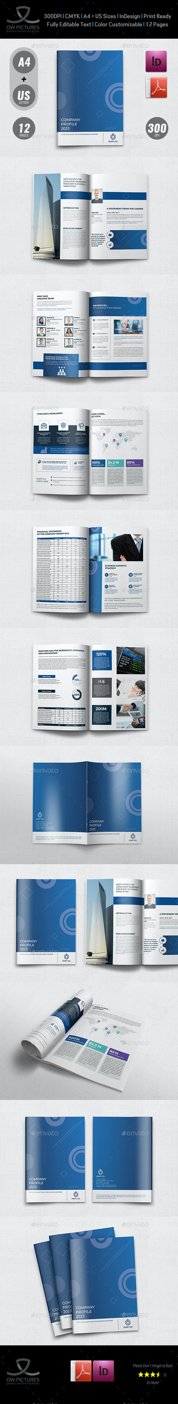 Company Profile Template Vol.45 - 12 Pages - Brochures Print Templates