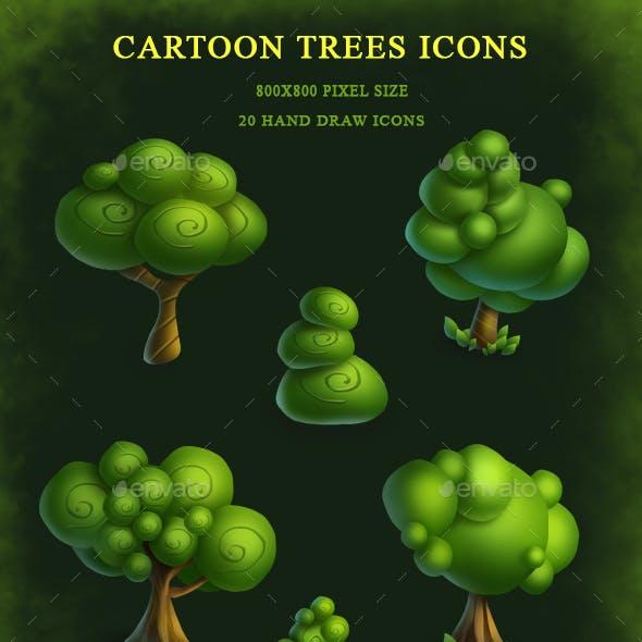 Cartoon Trees Icons