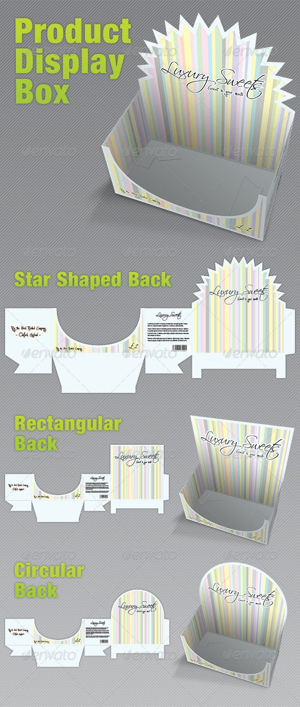 Product Display Box - Packaging - Packaging Print Templates