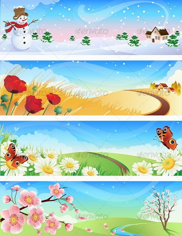 Four seasons - Landscapes Nature