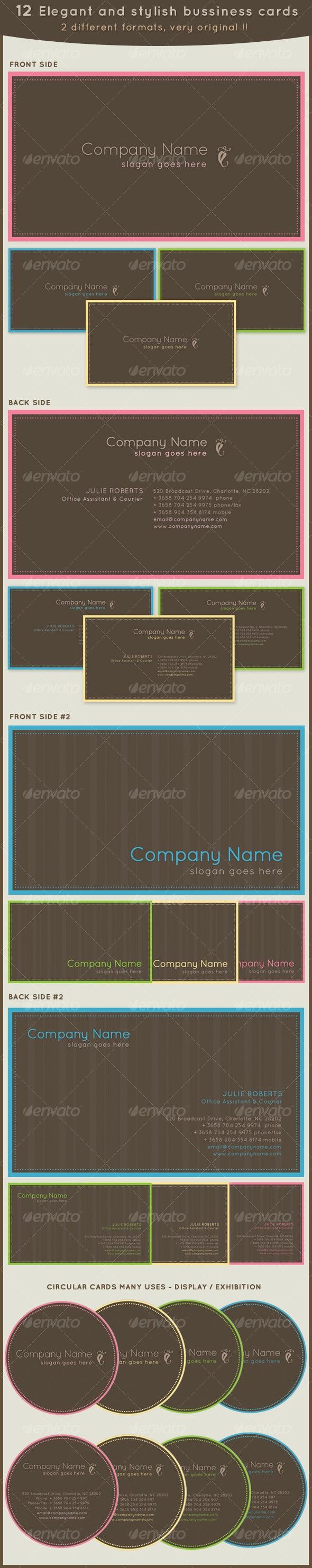 12 Elegant business cards 2 different formats! - Creative Business Cards