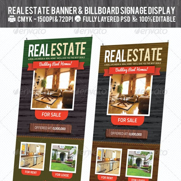 Real Estate Outdoor Banner & Billboard Signage PSD