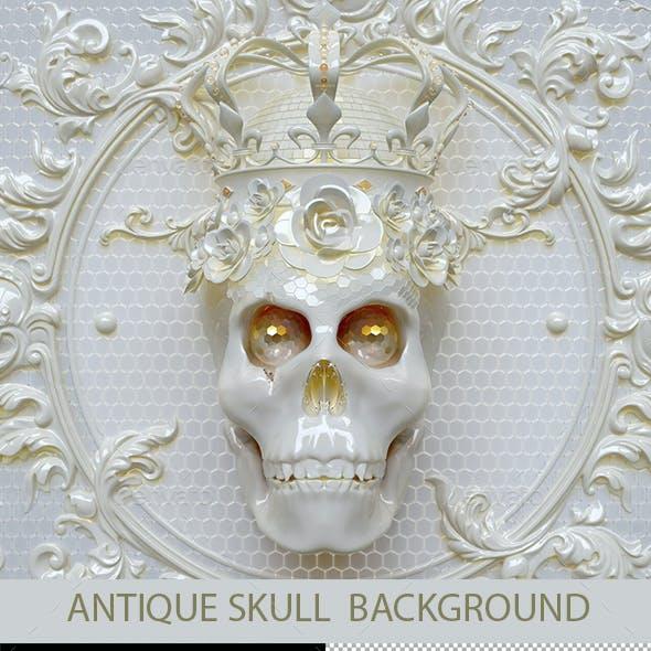 Antique Skull  Background