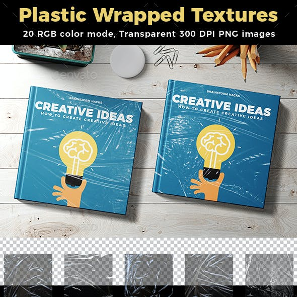 Plastic Wrap Overlay Square Background Textures