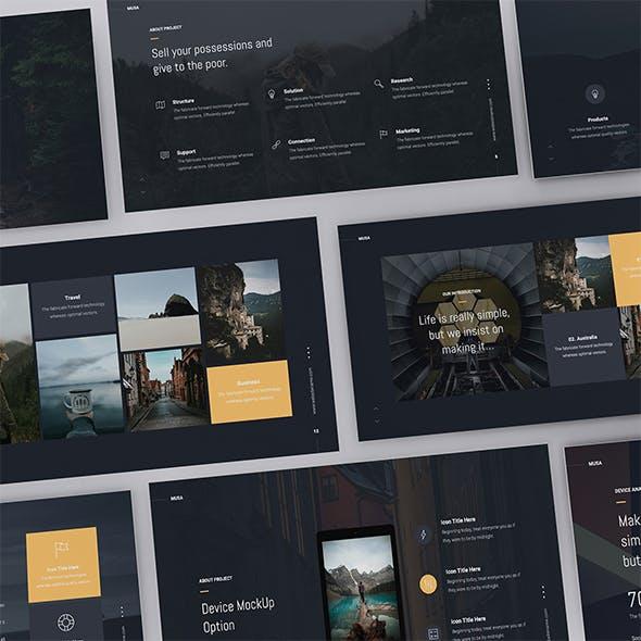 MUSA - Minimal & Creative Template (PPTX)