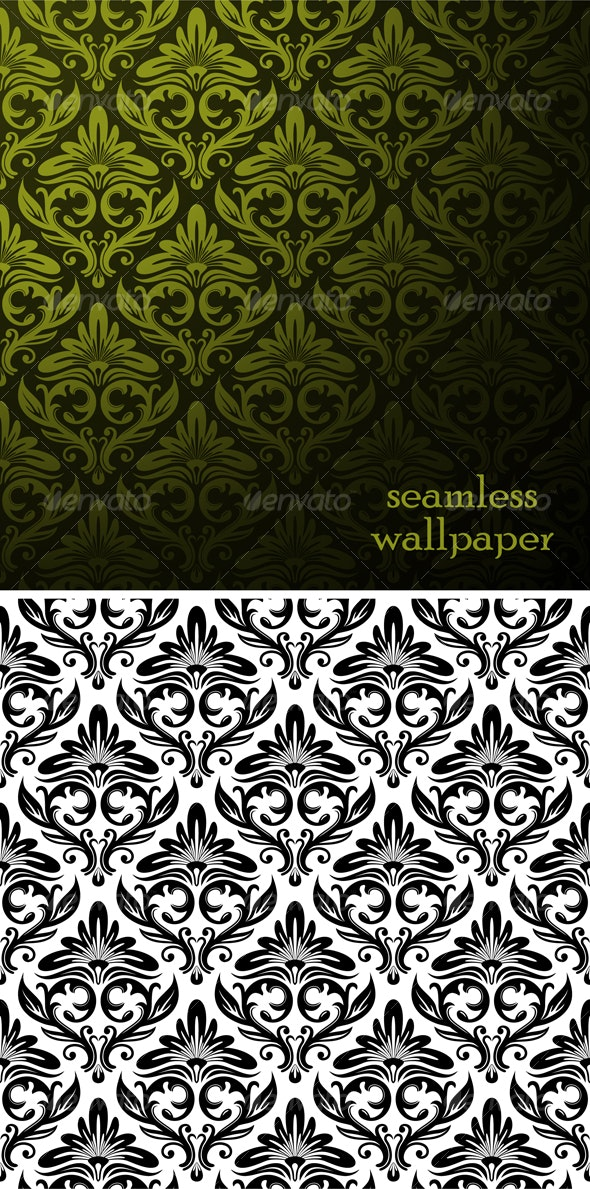 vector seamless ornament pattern - Backgrounds Decorative