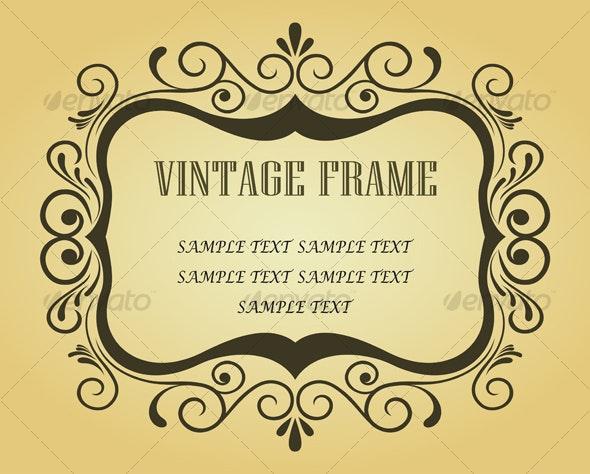Floral frame - Decorative Vectors