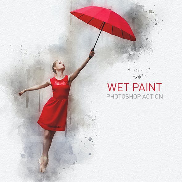 Wet Paint Photoshop Action | Rough Water-based Sketch Effect
