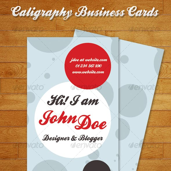 Caligraphy Business Cards