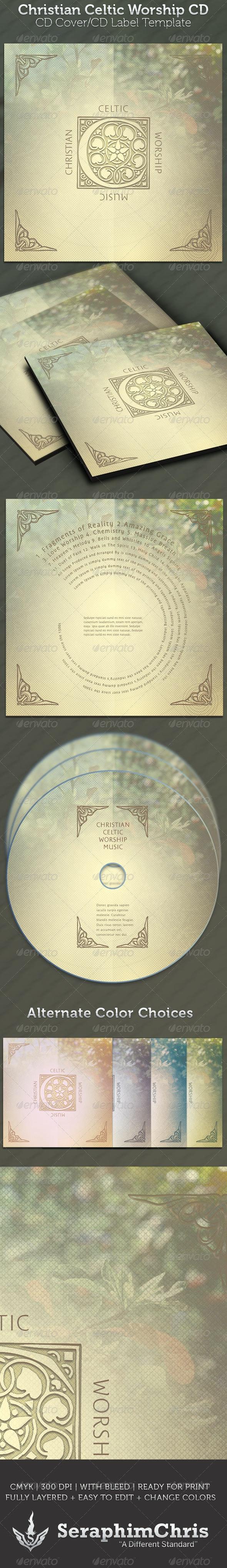 Celtic Christian Worship CD - CD & DVD Artwork Print Templates