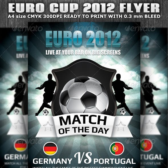 Euro Cup 2012 Football Flyer template