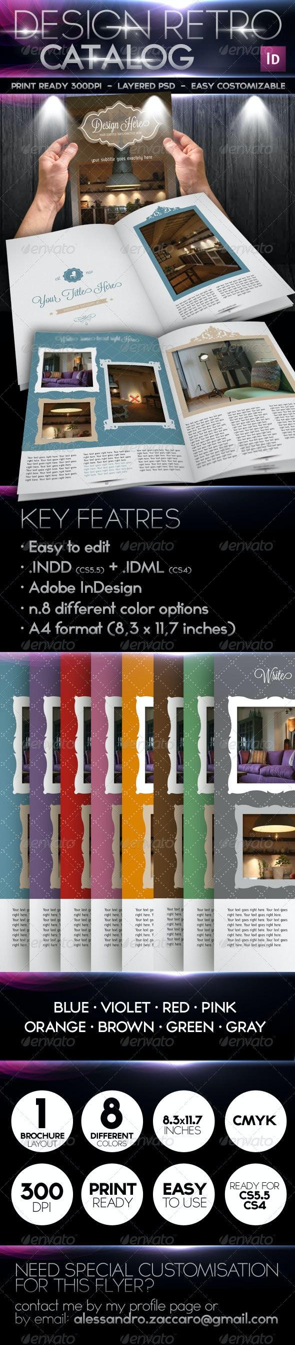 Design Retro Catalog Brochure  - Brochures Print Templates