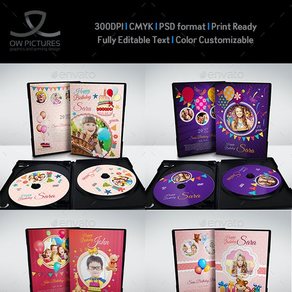 Birthday Party DVD Template Bundle Vol.1