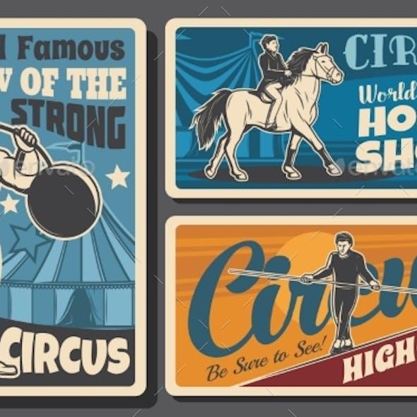 Strongman, Horse Ride and Acrobats Circus Show