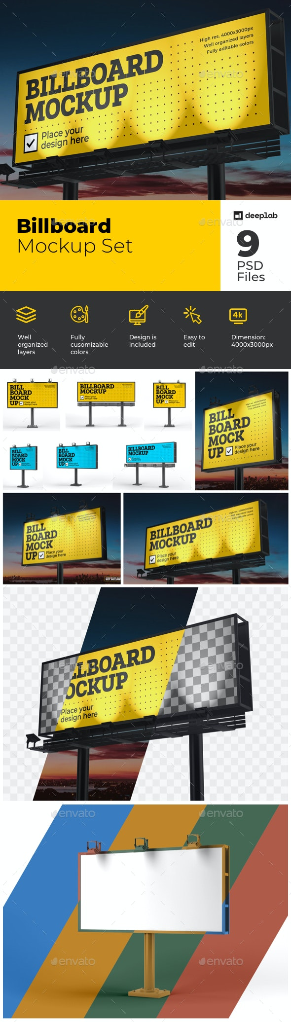 Billboard Mockup Set - Product Mock-Ups Graphics