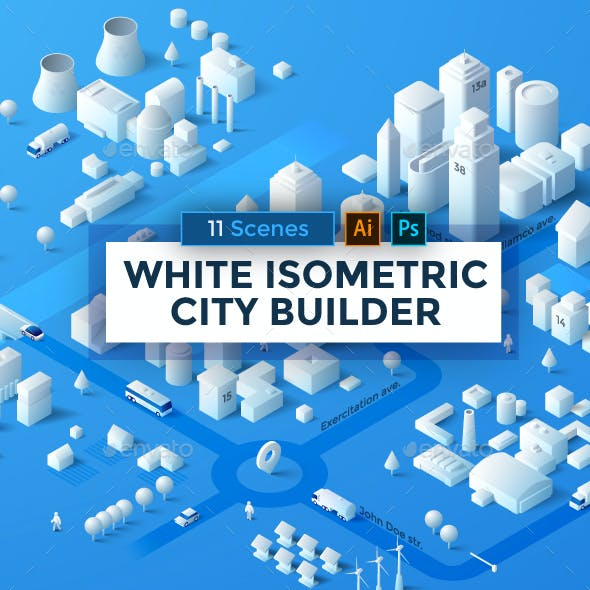 White Isometric City Builder