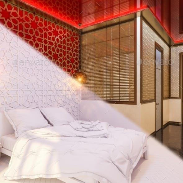 3d Illustration Islamic Style Interior Design