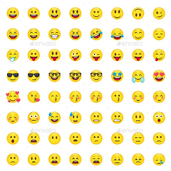 112 Cartoon Emoji Set